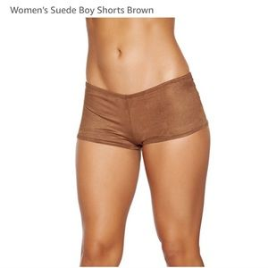 Brown Faux Suede Rave Costume Bottoms